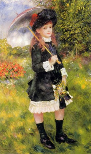 pierre auguste renoir girl with a parasol paintings