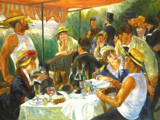 pierre auguste renoir luncheon of the boating party iii painting