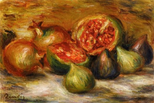 pierre auguste renoir still life with figs painting