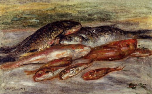 pierre auguste renoir still life with fish ii paintings