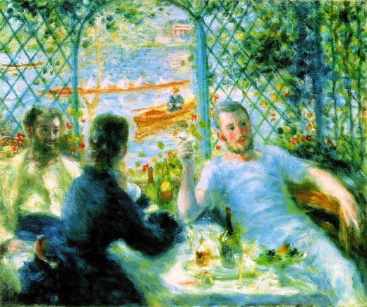 pierre auguste renoir the canoeists luncheon paintings