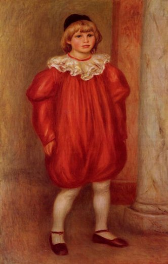 pierre auguste renoir the clown ii painting