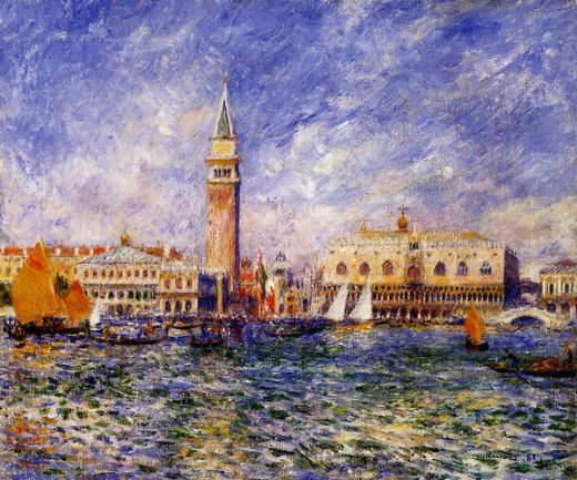 pierre auguste renoir the doges palace venice oil painting