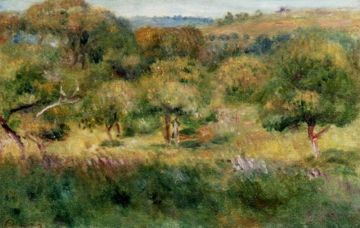 pierre auguste renoir the edge of the forest in brittany painting
