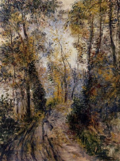 pierre auguste renoir the path through the forest painting