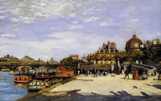 pierre auguste renoir the pont des arts and the institut de france paintings