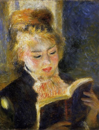 pierre auguste renoir the reader painting