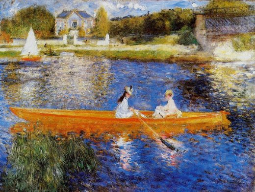 pierre auguste renoir the seine at asnieres painting