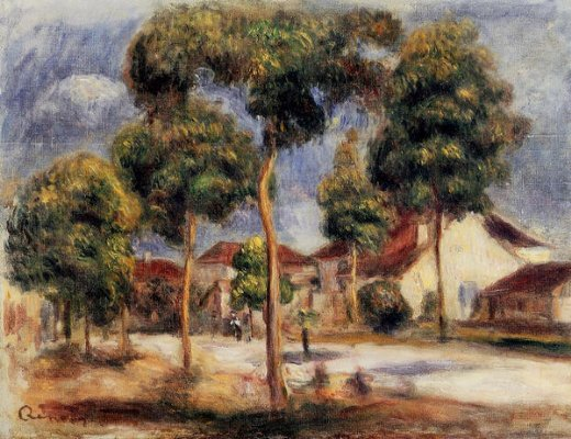 pierre auguste renoir the sunny street painting