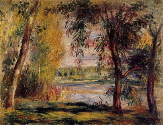 pierre auguste renoir trees by the water paintings