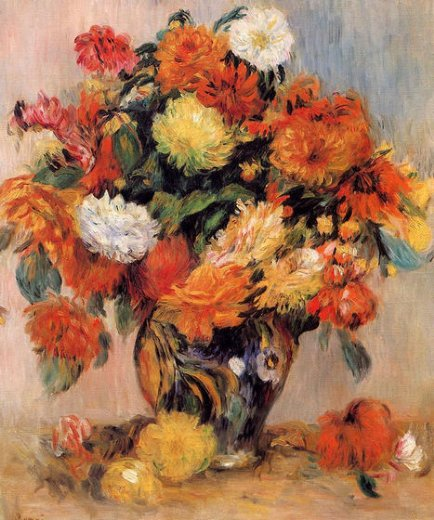 pierre auguste renoir vase of flowers iii painting