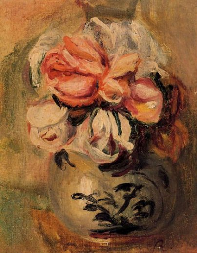 pierre auguste renoir vase of flowers paintings