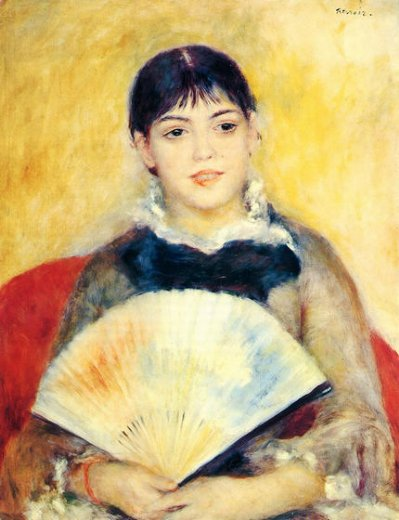 pierre auguste renoir woman with a fan iii painting