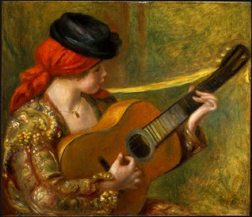 pierre auguste renoir young spanish woman with a guitar paintings