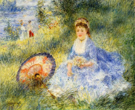 pierre auguste renoir young woman with a japanese umbrella paintings