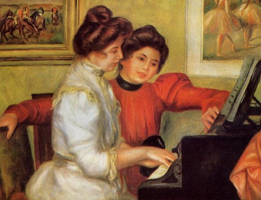 pierre auguste renoir yvonne and christine lerolle at the piano paintings