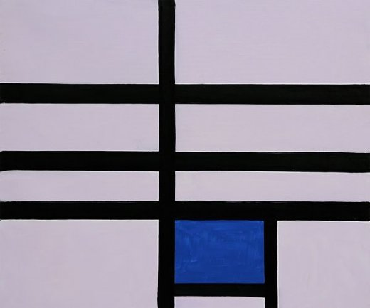 piet mondrian composition with blue 1935 paintings