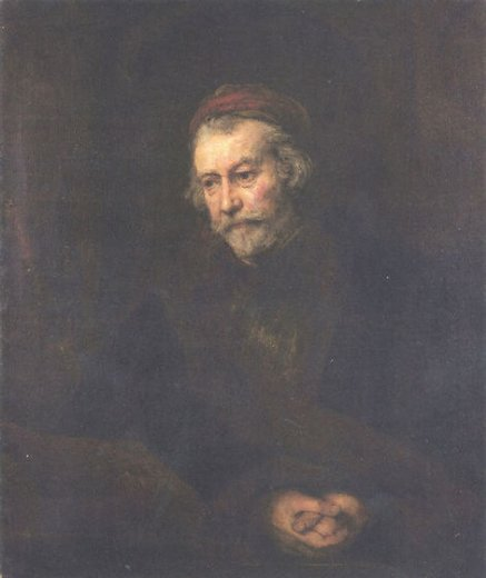 rembrandt van rijn old man dressed as saint paul painting