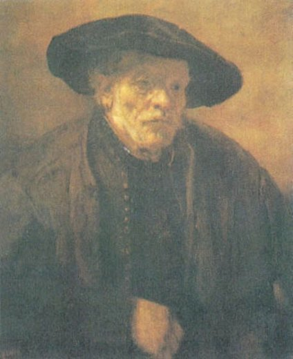 rembrandt van rijnold man with a beret Painting-25648