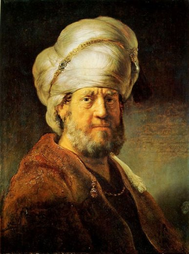 rembrandt van rijn portrait of a man in oriental garment iii oil painting