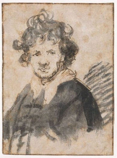 rembrandt van rijn self portrait 21 painting