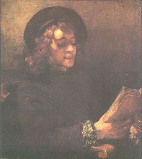 rembrandt van rijn titus reading paintings