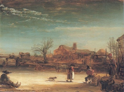 rembrandt van rijn winter paintings