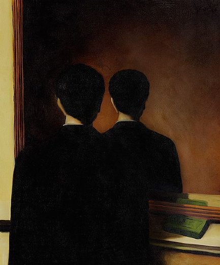 rene magritte la reproduction interdite painting