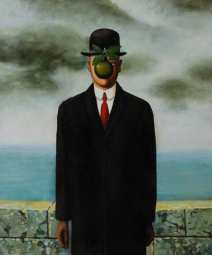 rene magritte the son of man painting