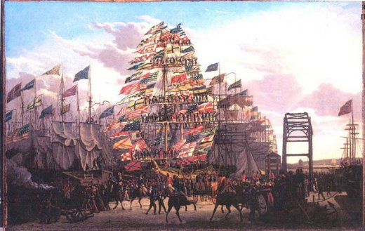 robert salmon visit of the prince of wales to liverpool 18 september 1806 painting