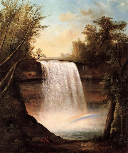 robert scott duncanson the falls of minehaha painting