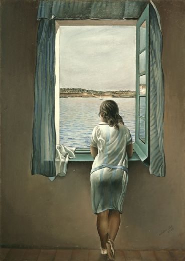 salvador dali figure at a window i painting