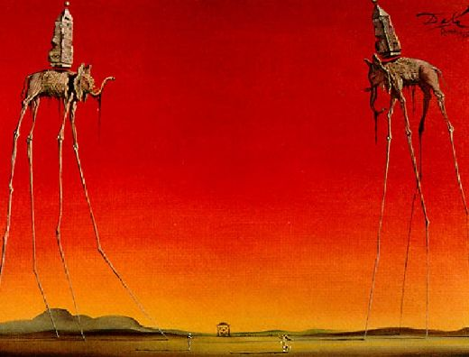 salvador dali les elephants painting