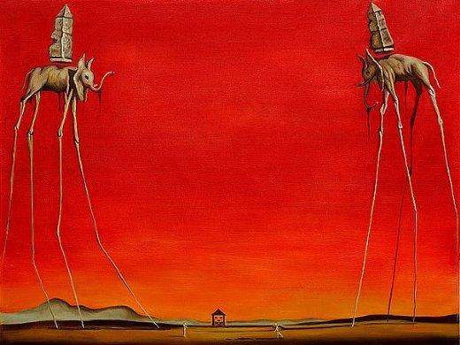 salvador dali the elephants painting