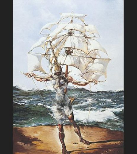 salvador dali the ship paintings