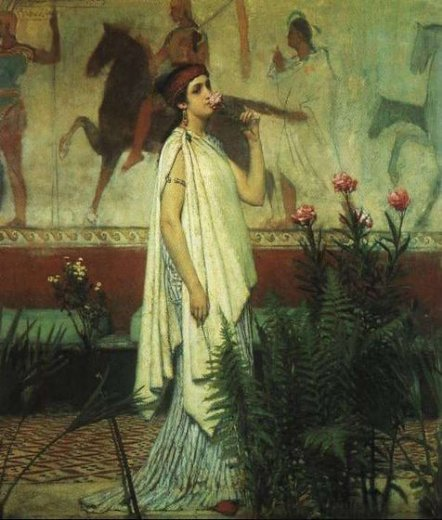 sir lawrence alma tadema a greek woman painting