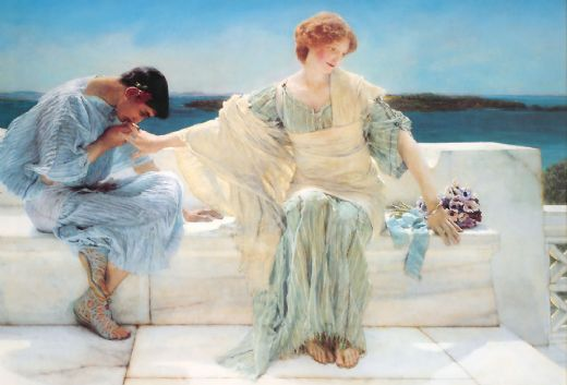 sir lawrence alma-tadema sir lawrence alma tadema ask me no more paintings