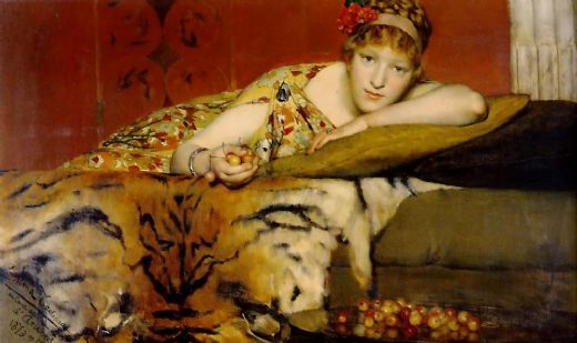 sir lawrence alma tadema cherries painting