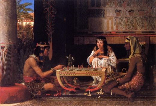 sir lawrence alma-tadema sir lawrence alma tadema egyptian chess players oil painting
