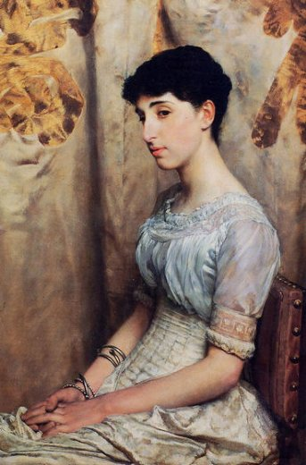 sir lawrence alma tadema miss alice lewis painting
