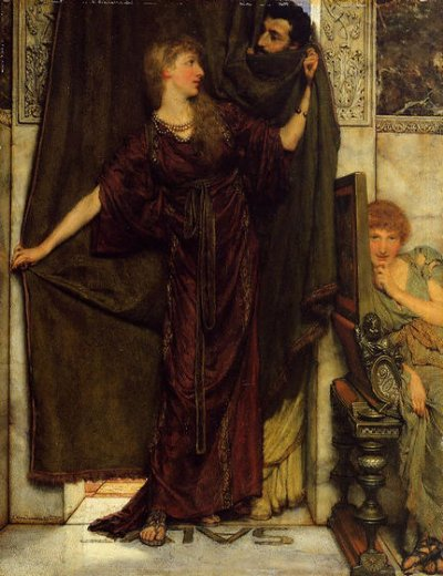 sir lawrence alma tadema not at home paintings