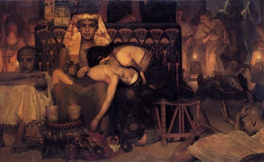 sir lawrence alma tadema the death of the first born painting
