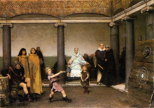 sir lawrence alma tadema the education of the children of clovis paintings