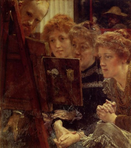 sir lawrence alma tadema the family group painting