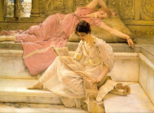 sir lawrence alma tadema the favourite poet posters