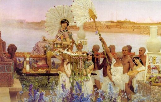 sir lawrence alma tadema the finding of moses ii painting