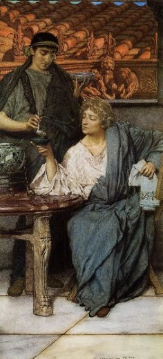 sir lawrence alma tadema the roman wine tasters painting