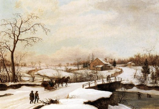 thomas birch philadelphia winter landscape prints