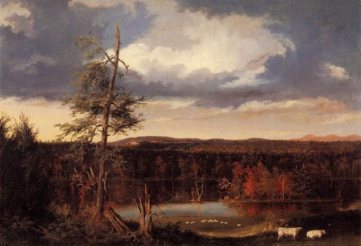 thomas cole landscape the seat of mr. featherstonhaugh in the distance painting