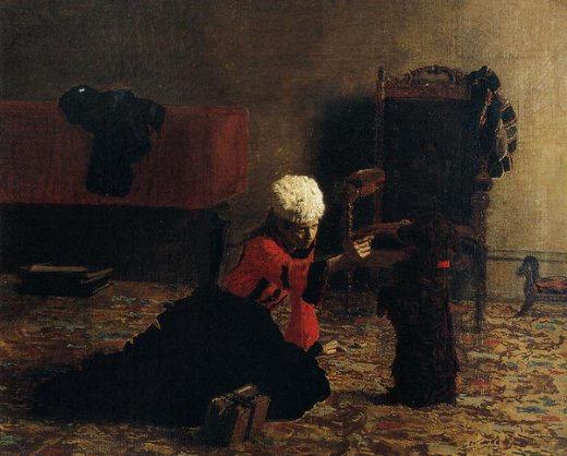 thomas eakins elizabeth crowell with a dog painting